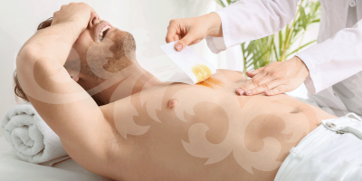 Mens chest wax in Dunfermline at Clarity House