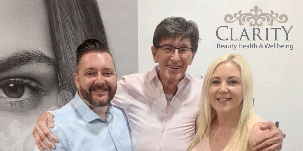 Dr Des Ferandes Meeting Eve and Derek from Clarity House in Dunfermline